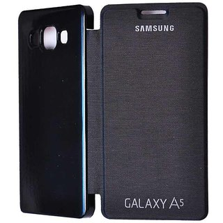 Snaptic Flip Cover For Samsung Galaxy A5 BLACK