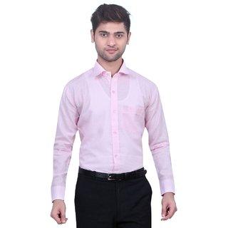 TrustedSnap Men's Pink Comfort Fit Formal Shirt