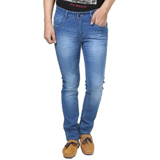 Cotton Stretchable Light Blue Denim Jeans