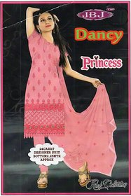 MTS CHANDERI Pink Dress Material with Dupatta
