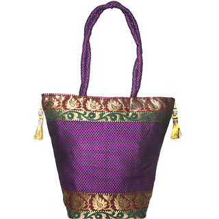 Elegant Women Silk Bag for Party and Traditional Wear by Lolaski