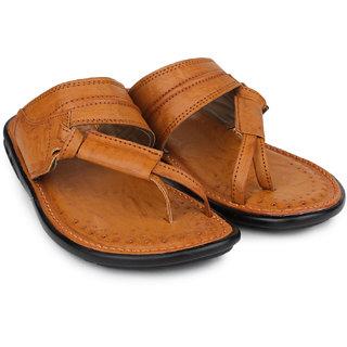 Do Bhai Men's Tan Flip Flops
