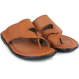 Do Bhai Men's Tan Flip Flops