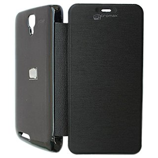 Snaptic Flip Cover For Micromax Canvas Juice A77 Black