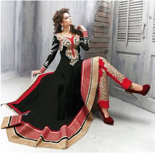 Trendz Apparels Black Soft Net Anarkali Salwar Suit