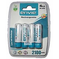 2100 Mah 4 AA Rechargeable Batteries Ni-Mh Toy Camera Nickel Metal Hydride