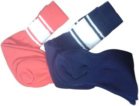 3 PAIRS FOOTBALLS STOCKING ASSORTED COLORS COTTON FOOTBALLS SOCKS