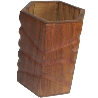 limra brown wooden penstand cutter