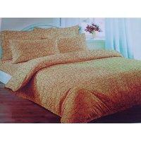 Double Bed Linen Bedsheet Set - Golden