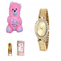 Timebre Women Pink Teddy Love Analog Watches