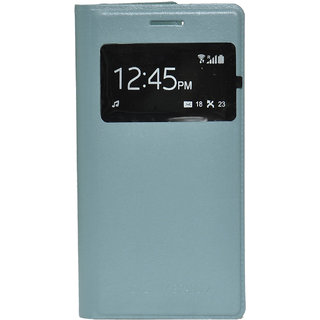 Snaptic S View Flip Cover for Samsung Galaxy Grand 2 Grey