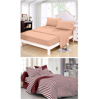 Ahem Homes Magic Cotton Double Bedsheet - 6 Pcs  (M_1012-1093 -AH)