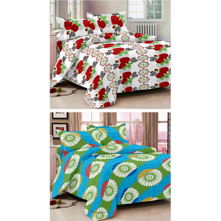 Ahem Homes Magic Cotton Double Bedsheet - 6 Pcs  (M1435-MG1441 -AH)