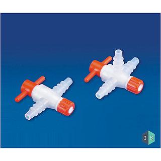 IndoSurgicals Plastic Stopcocks, Polypropylene (PP) - Pack of 6 Pcs. (2 Way)
