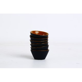 Caffeine Ceramic Handmade Bold Style Small Stout Pudding Dessert Ceramic Bowl