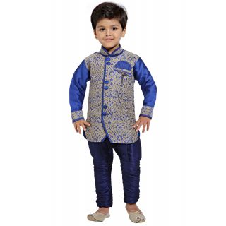 Jeet Stylish Blue Kurta Pyjama Suit for Boys