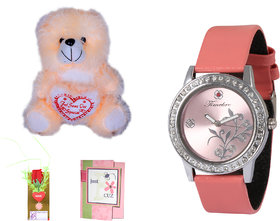 Timebre Women Gold Teddy Love Analog Watches