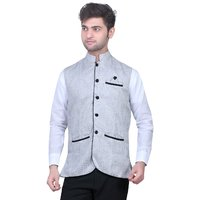 TrustedSnap Nehru Jacket For Mens (Off White)