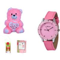 Timebre Women Pink Teddy Love Analog Watches