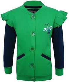 Kothari Green  Blue Sweatshirt For Girls