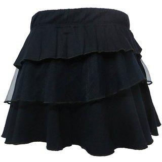 Kothari Black Cotton Skirt