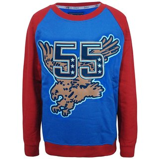 Kothari Blue Red Sweatshirt For Boys