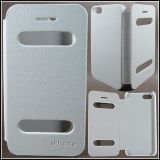 White Folio Back Cover Case With Caller Id Cutouts Direct Call View For Apple Iphone 5