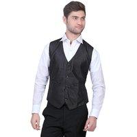 TrustedSnap Waist Coat For Mens (Black)