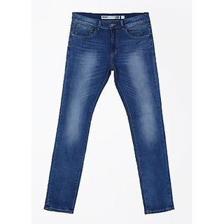 Indigo Jeanscode Men's Cotton Elastane Slim Fit Blue Jeans
