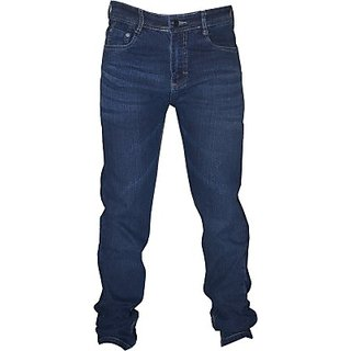 L,Zard Narrow Fit Men blue in color material Streachable Jeans Pattern Solid