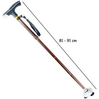 Aluminum Adjustable Folding Foldable Aluminum Walking Hiking Stick Cane Tripod-4