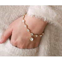 Adorzia Gold Plated Gold Alloy Bracelets For Women