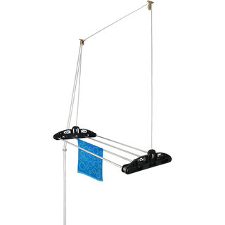 Rainbow Drywell 4 Pipes 4 Feet Deluxe With Brass Pulley Cloth Dryer(RD44HDB)