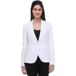 KOTTY Ladies Polyester White Blazer