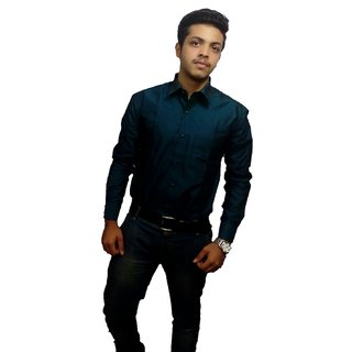 Buy Faminton Peacock Dark Green Color Formal Shirt Online 950 From Shopclues