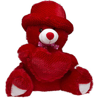 Glitters Red Pine Heart Teddy