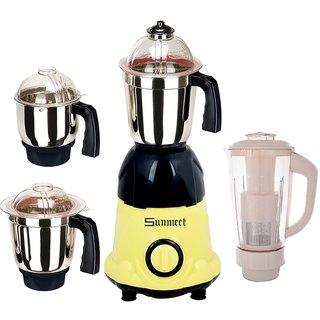 Sunmeet 1000 Watts MG16-106 Yellow and Black 4 Jars Mixer Grinder