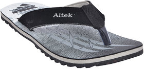 Altek Mens Grey,Black Flip Flops