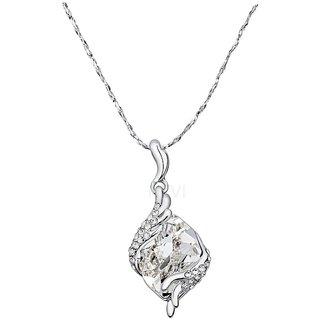 NEVI Swarovski Elements Silver Crystal Pendant Valentine Jewellery For Women