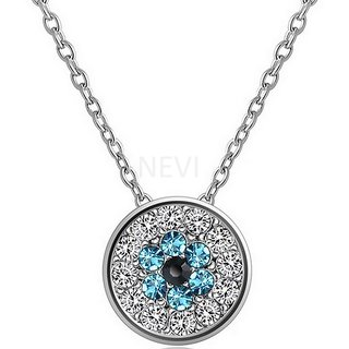 NEVI Cubic Zirconia Coin Shape Pendant Fashion Jewellery For Women