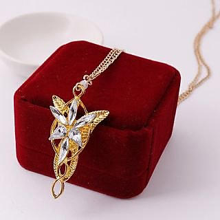 Buy wf golden lord of the rings elf princess arwen evenstar pendant wf golden lord of the rings elf princess arwen evenstar pendant necklace aloadofball Images