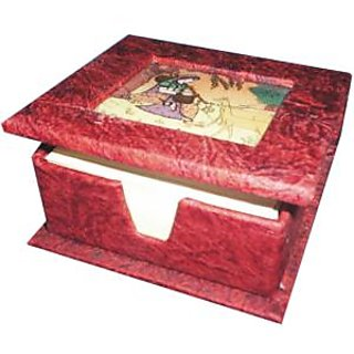 Red Paper Table Stationeries Box