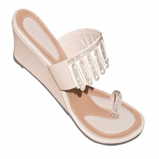 Women's Beige Wedges