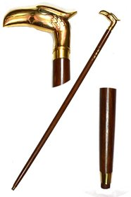limra wooden walking stick eagle handle