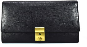 Moochies Genuine Leather Passport/travel Case,Color-Black