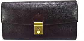 Moochies Genuine Leather Passport/travel Case,Color-Brown