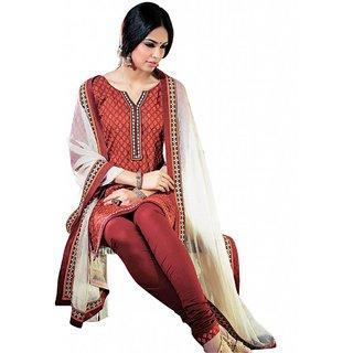 Triveni Fabulous Sleek Bordered Cotton Salwar Kameez  (Unstitched)