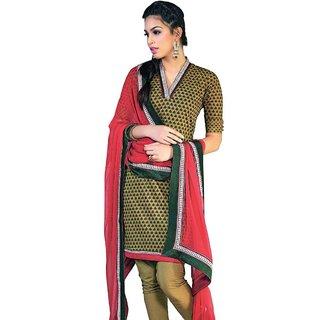 Triveni Remarkable Floral Printed Cotton Salwar Suit  (Unstitched)
