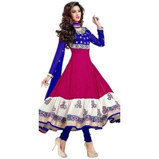 Triveni Miraculous Floral Embroidered Anarkali Suit  (Unstitched)