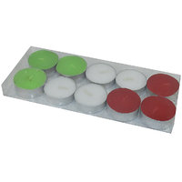 MAV Tea-light Candles (Multicolour, Pack Of 10)